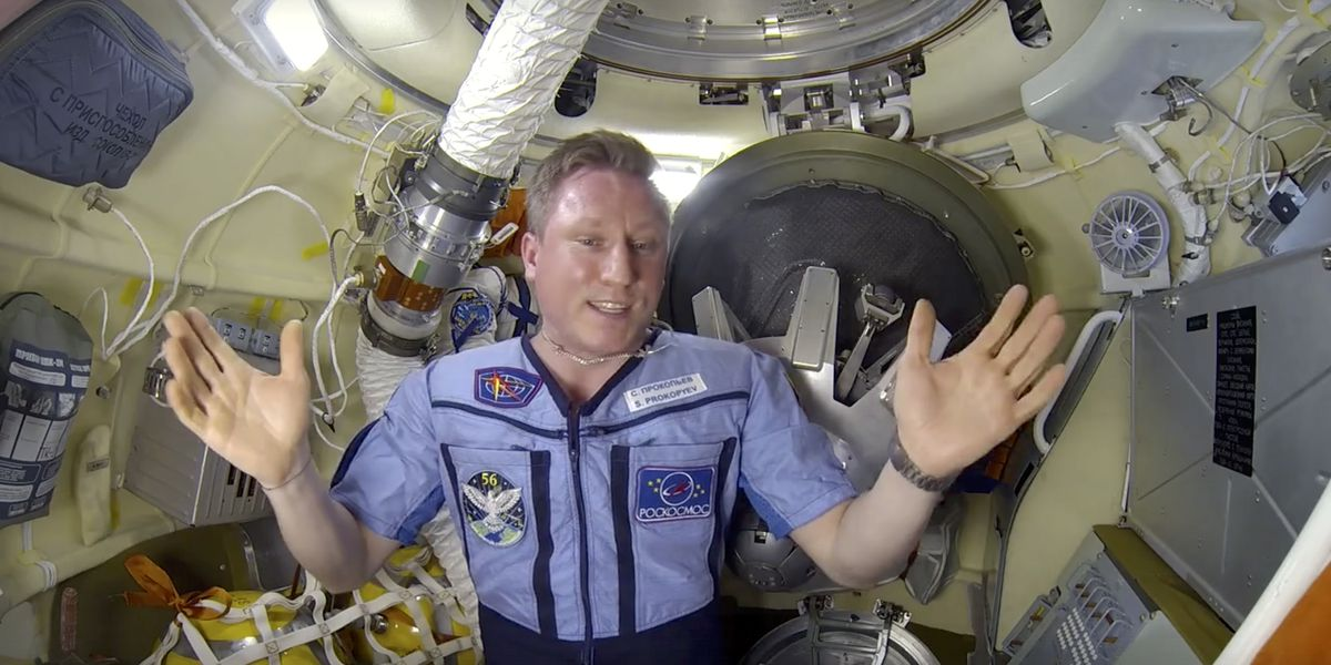 Russian cosmonaut allays concern about hole in space lab