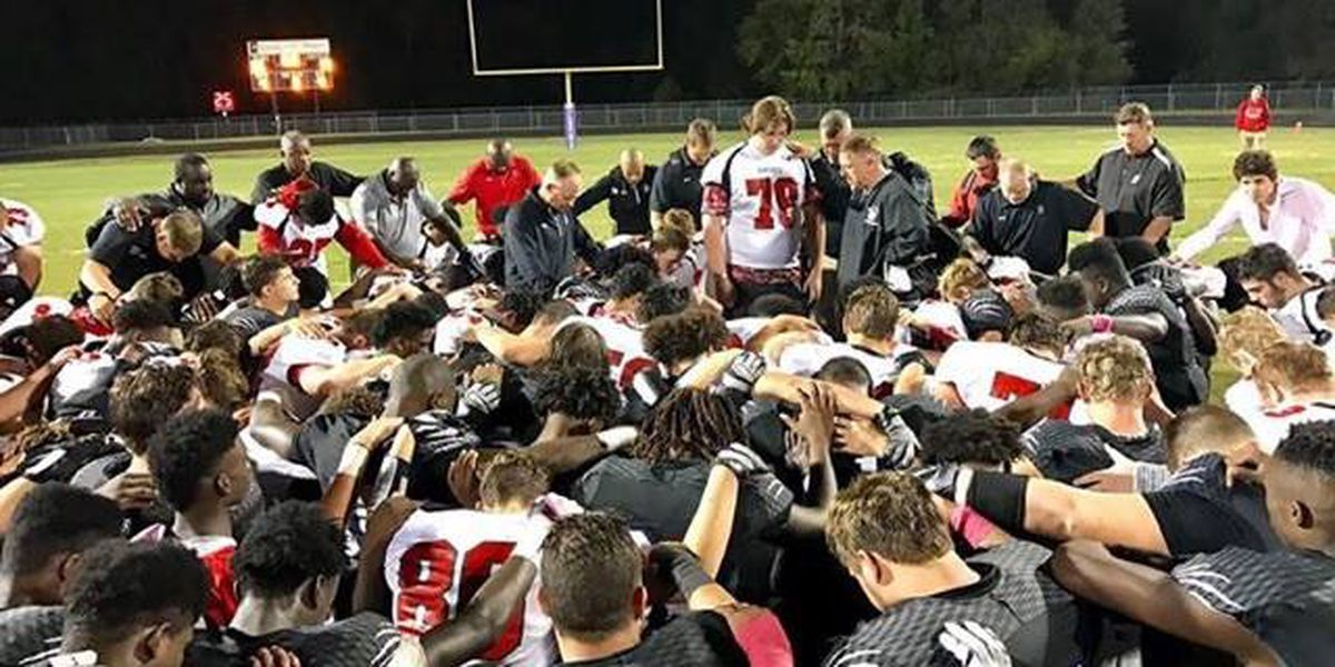 Lowcountry football players pray for son, family of shooting victim
