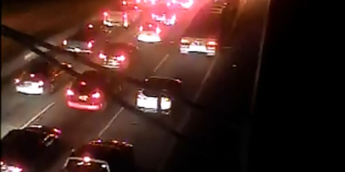 Three car accident stalling I-526 westbound traffic near Don Holt Bridge