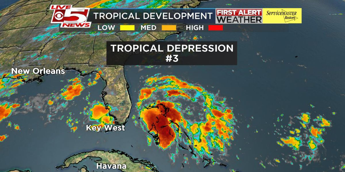 Tropical depression forms over the Bahamas, expected to dissipate by Wednesday