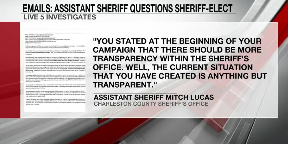 VIDEO: Emails: Charleston assistant sheriff questions leadership of sheriff-elect