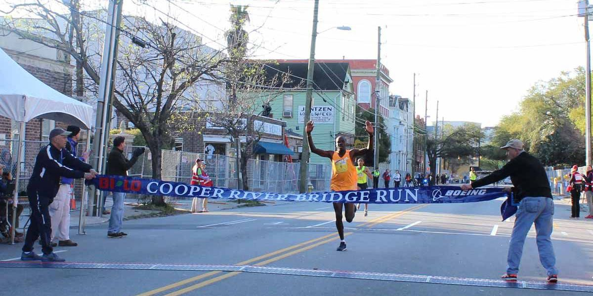 Dominic Ondoro wins 2015 Cooper River Bridge Run
