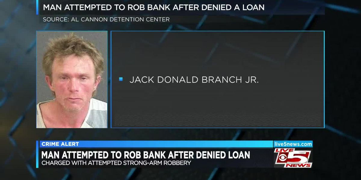 VIDEO: Affidavit: Man attempted to rob bank after being denied loan