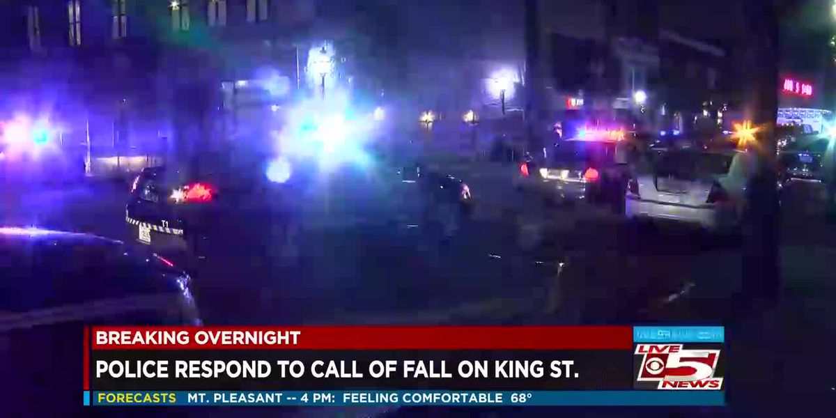 VIDEO: Police respond to call of fall on King Street