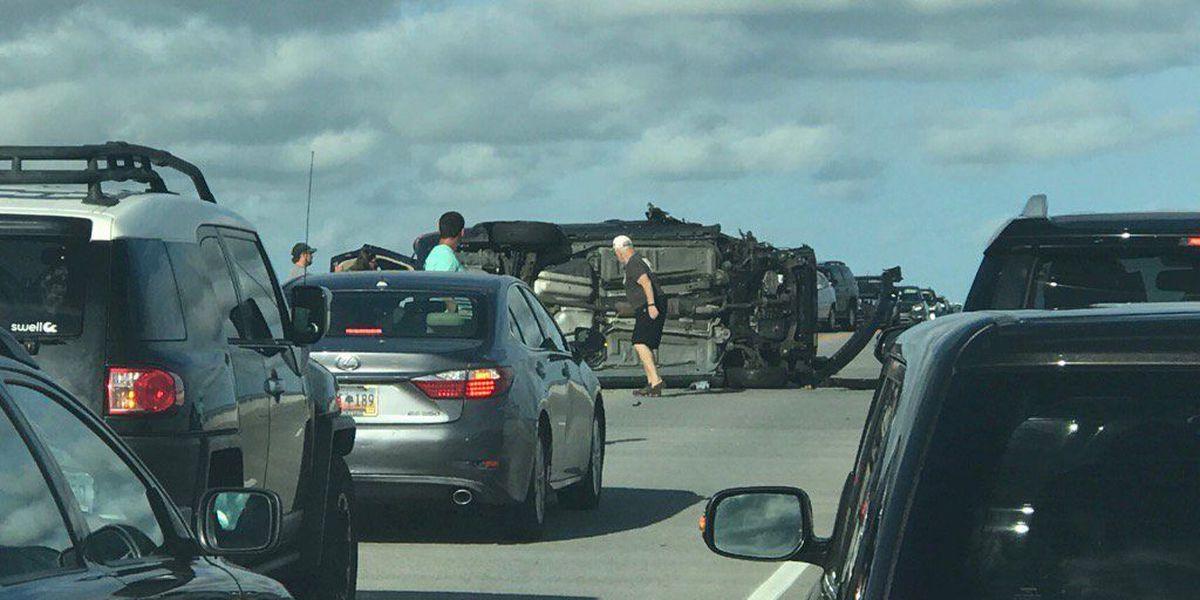 Emergency crews respond to accident on Stono River Bridge