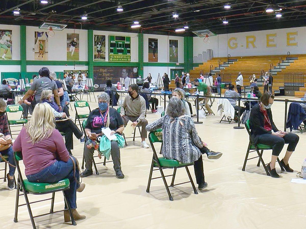 Summerville High School gym transformed into mass vaccination site