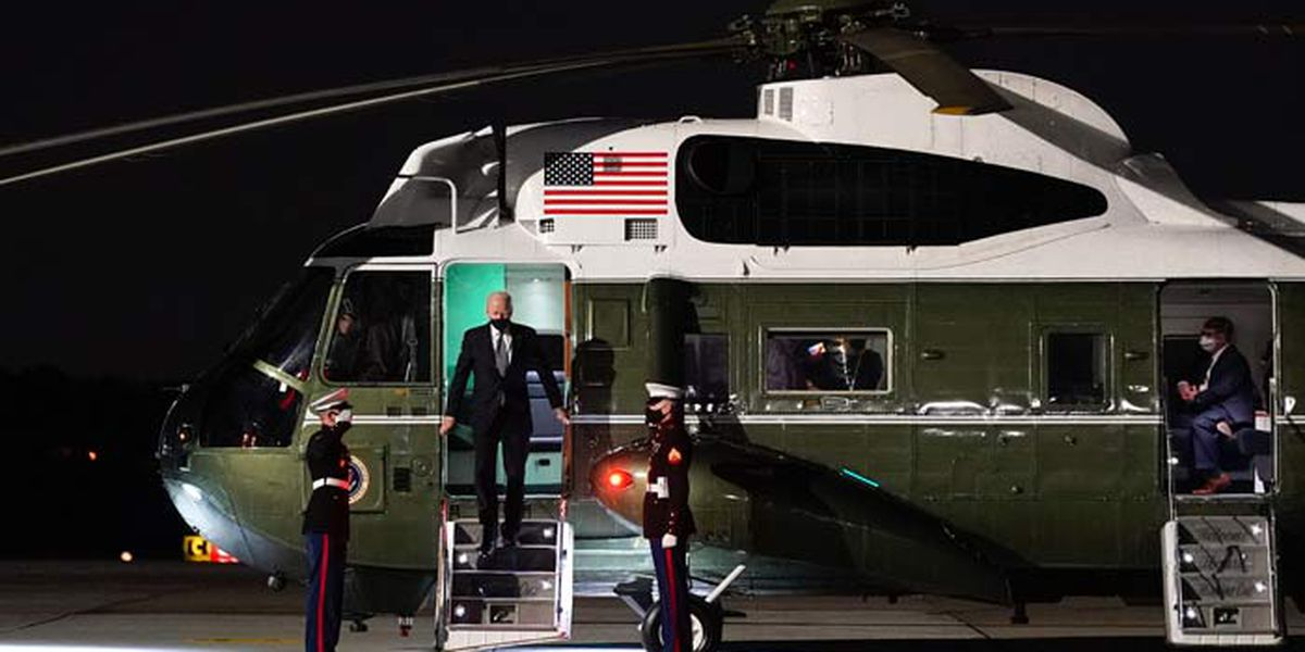 Test flights underway over Charleston area for presidential replacement helicopter