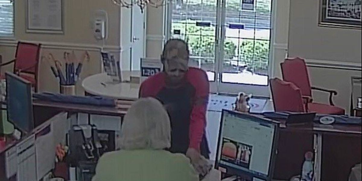 Police searching for Mt. Pleasant bank robbery suspect caught on tape