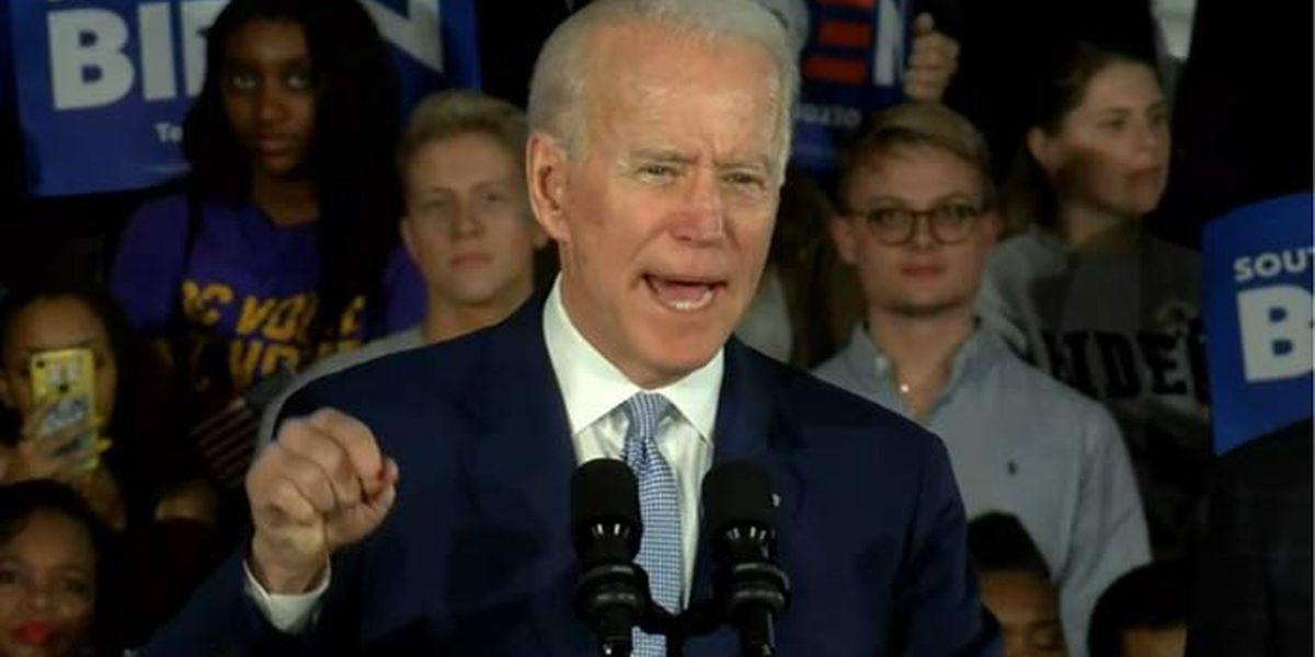 Biden celebrates S.C. Democratic Primary win, Steyer drops out