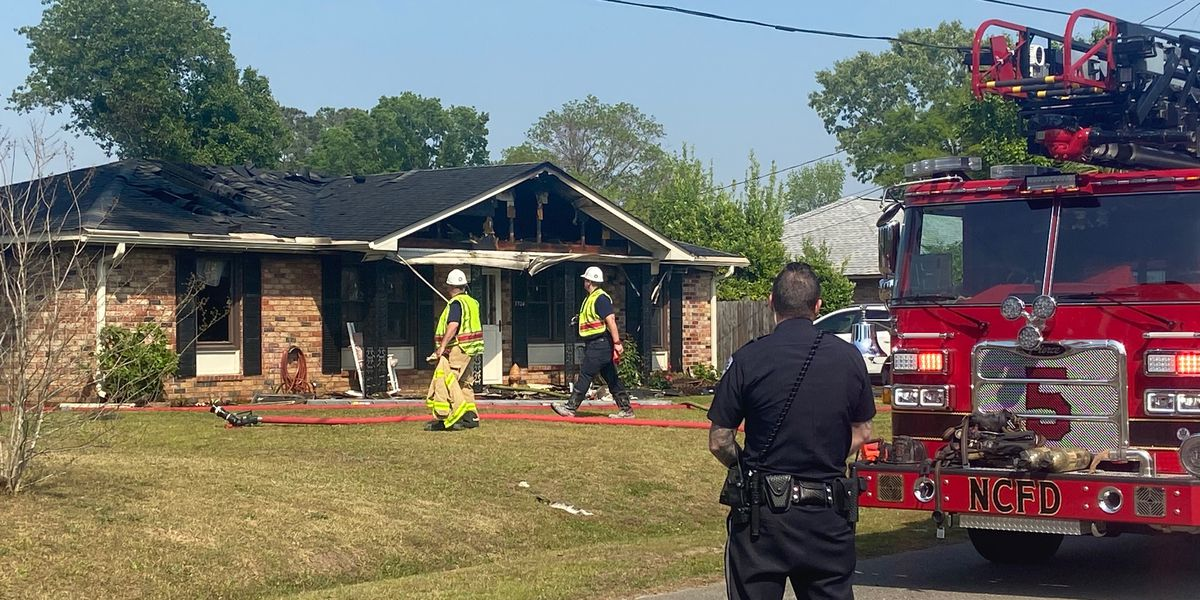 Fire under control at North Charleston home
