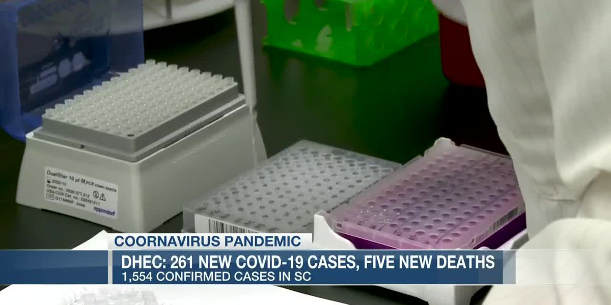 COVID-19 reported in all 46 counties across South Carolina; 261 new cases, 5 deaths reported Thursday