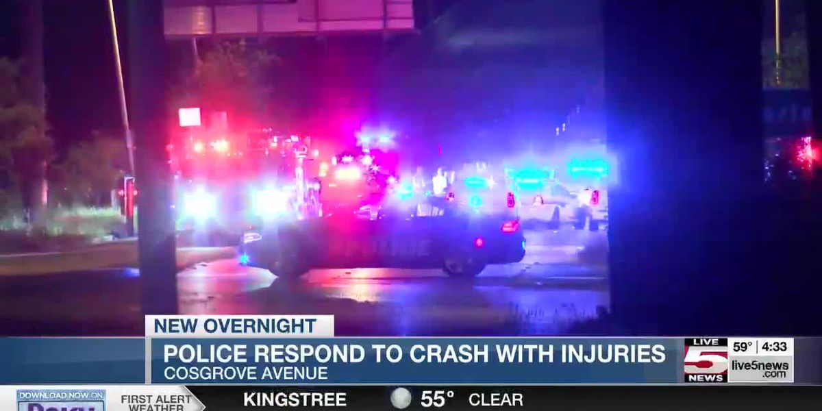 VIDEO: Police respond to late-night crash on North Bridge