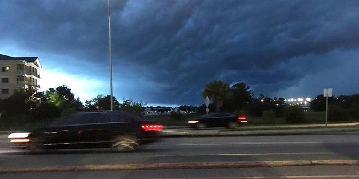 Viewers capture eye-popping shelf clouds over Lowcountry