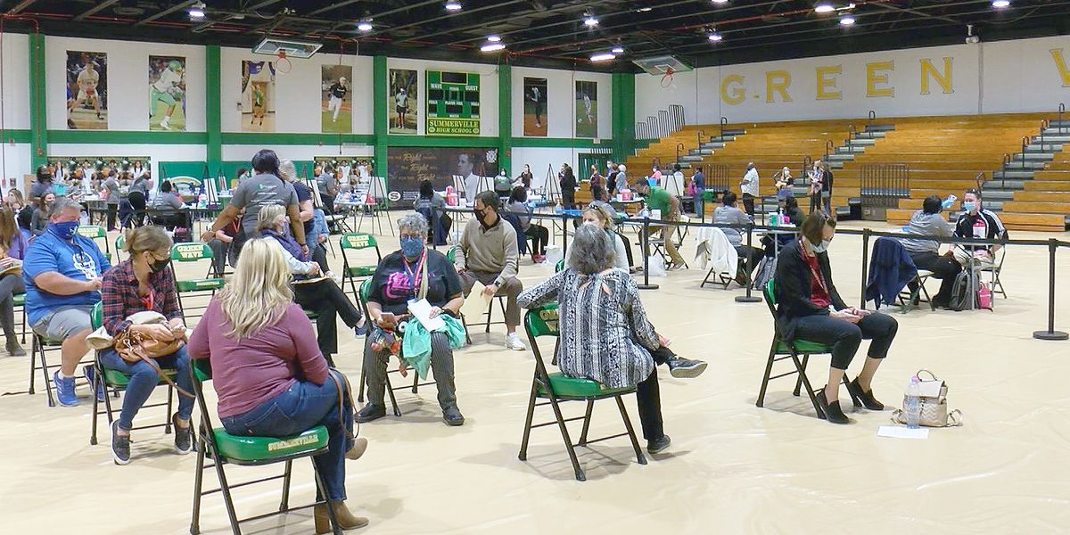 Summerville High School gym transformed into mass vaccination site