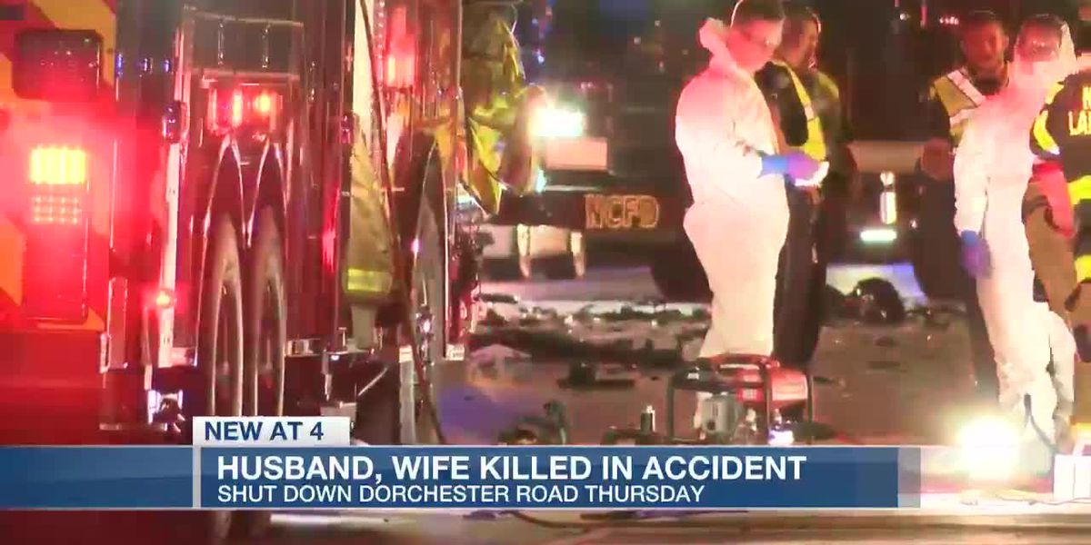 VIDEO: Coroner identifies husband, wife killed in Dorchester County 3-vehicle crash