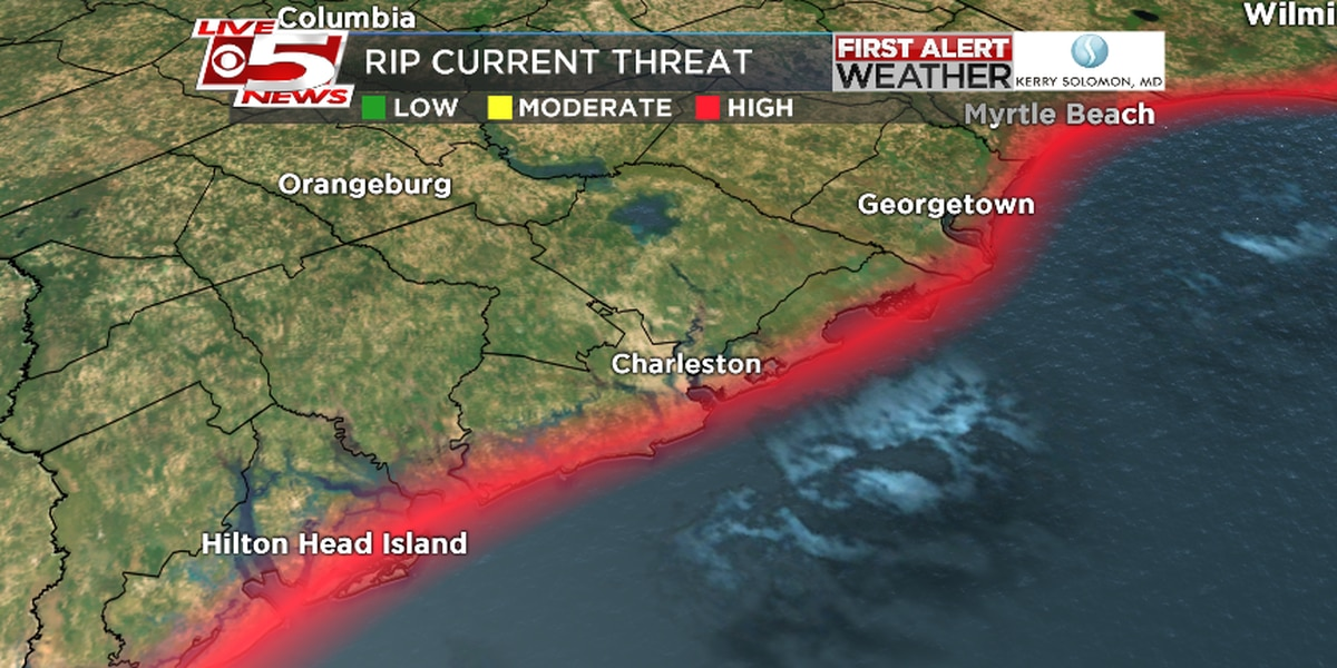 Humberto continues to strengthen; Rip current risk to remain high through Tuesday