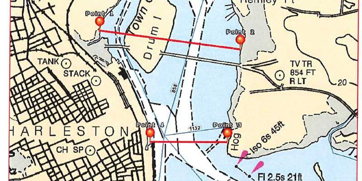 Prohibited water zones for Cooper River Bridge Run
