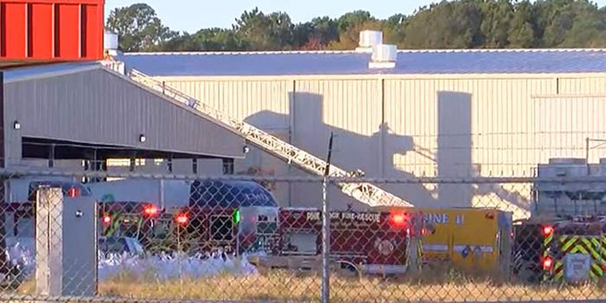 Firefighters urge drivers to avoid area of Goose Creek aluminum plant fire