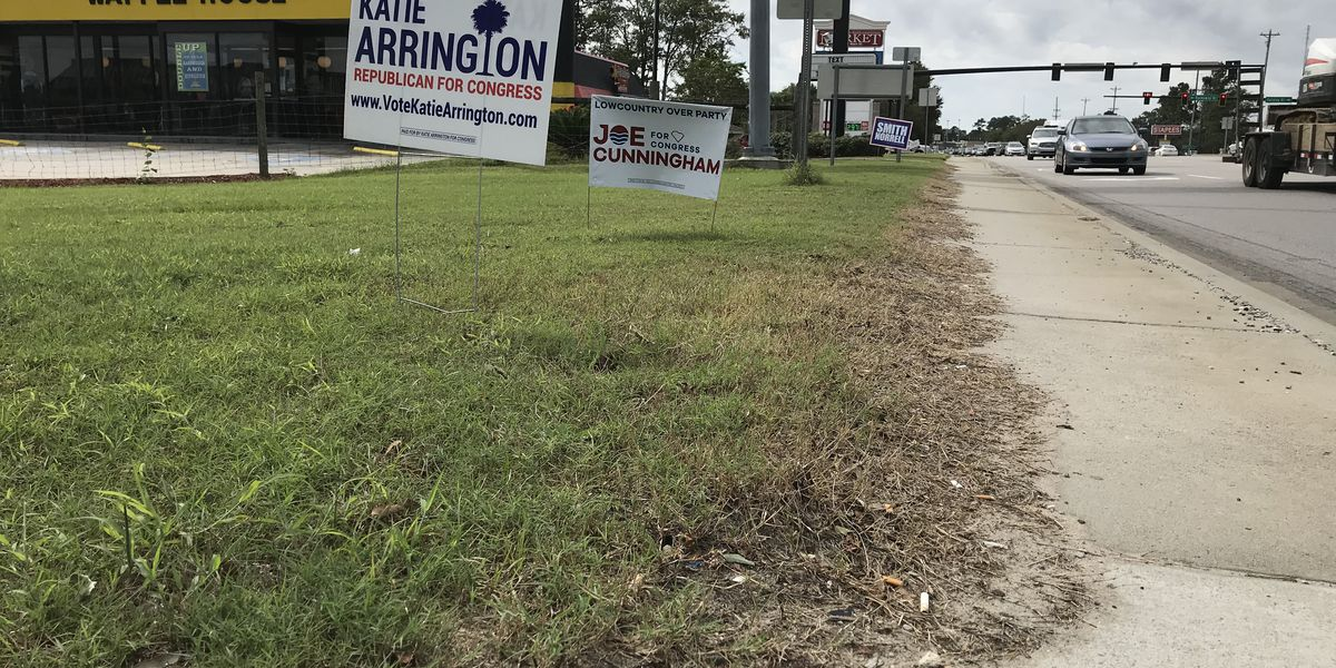Drivers concerned about improperly placed campaign signs in the Lowcountry