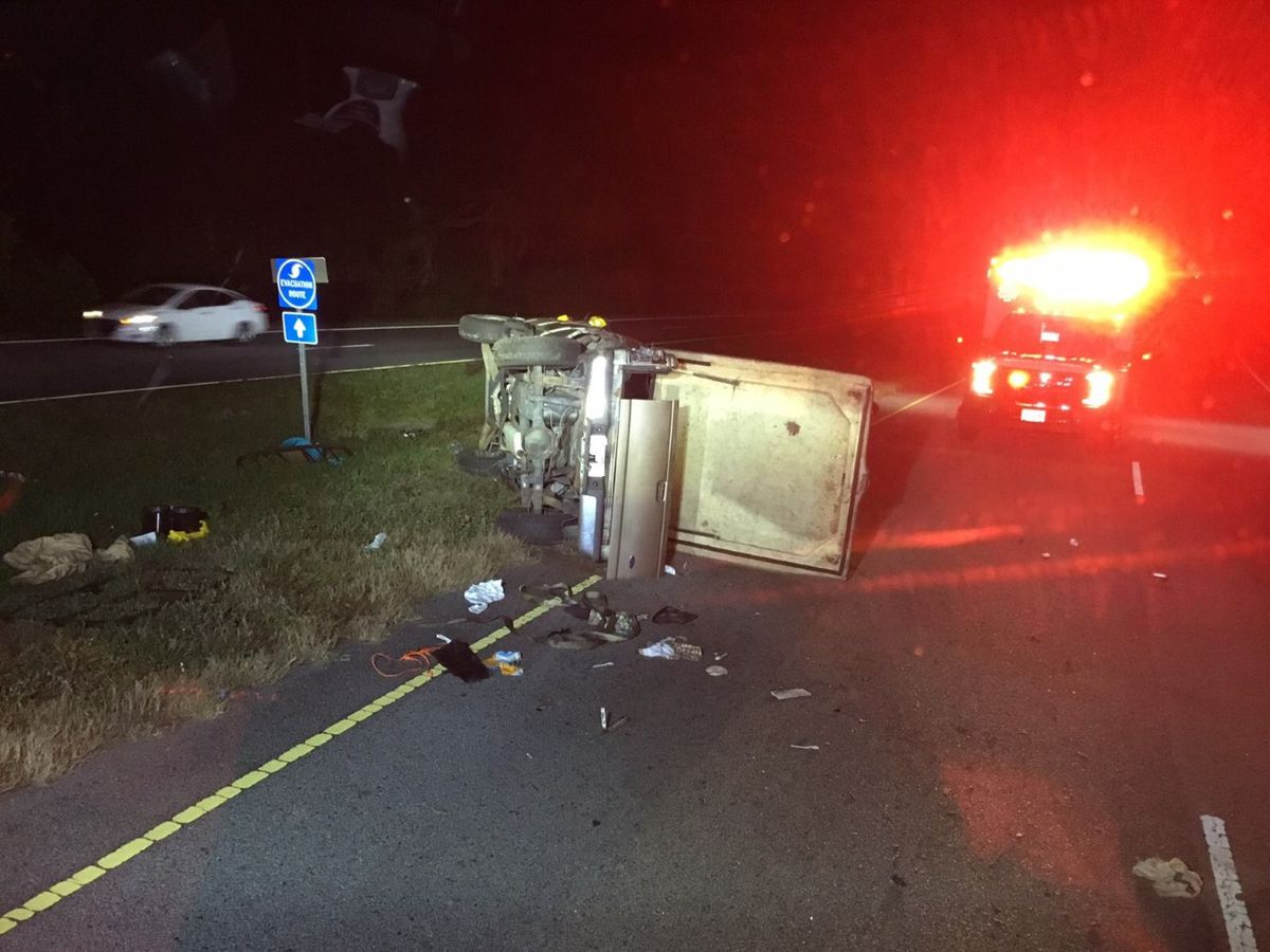 Firefighters: 1 injured in Monday night Burton crash