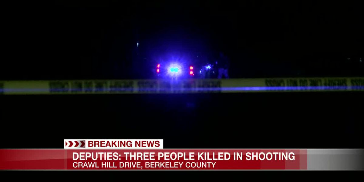 Sheriff's office: Shooting kills three people in Berkeley County