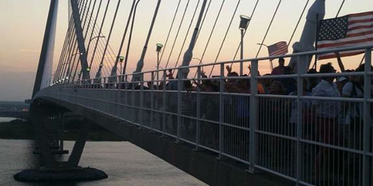 Thousands form 'Bridge to Peace' Unity Chain to honor church shooting victims