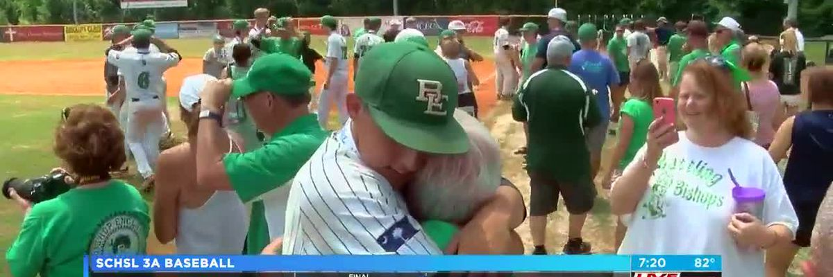VIDEO Bishop England wins 3rd straight 3-A baseball title