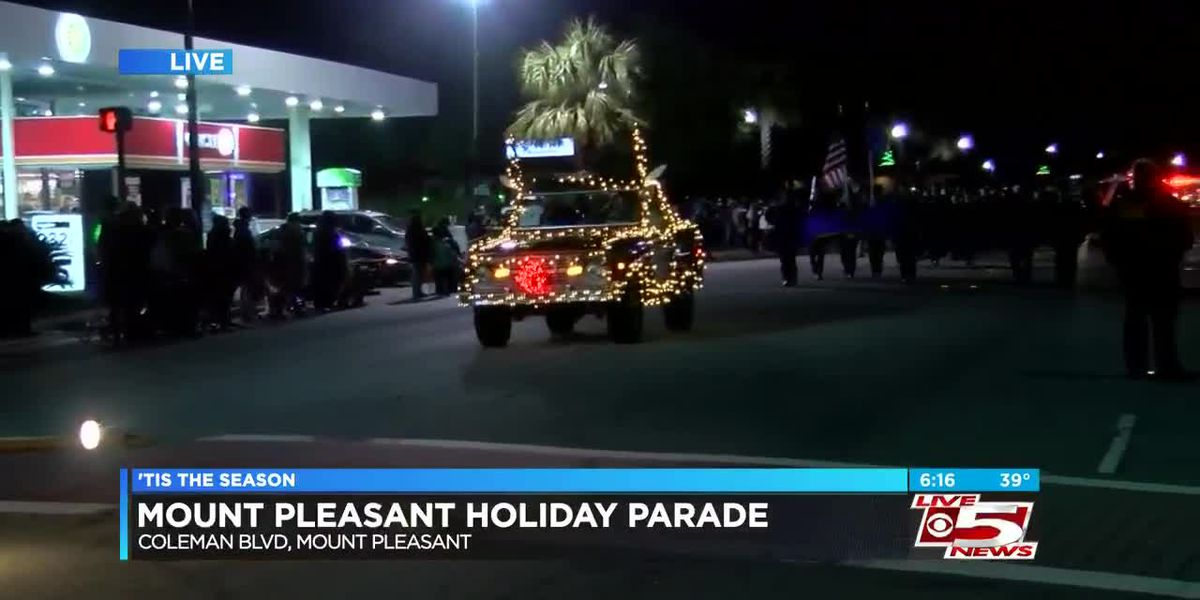 VIDEO: Mount Pleasant Christmas Parade continued despite weather