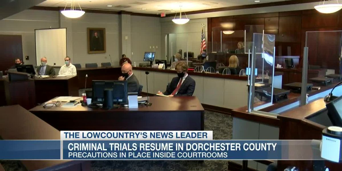 VIDEO: Big changes in courtrooms as criminal trials resume in Dorchester County