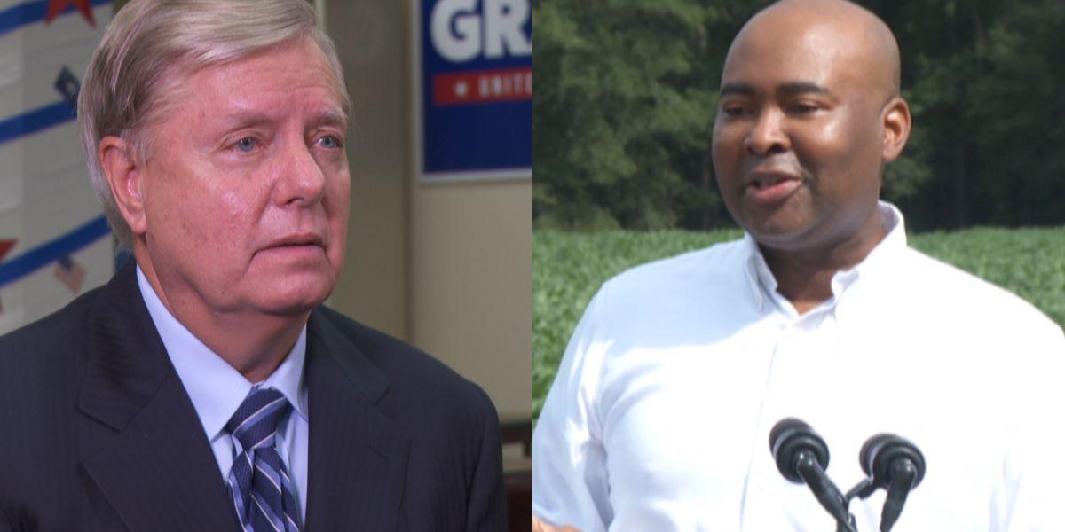 U.S. Sen. Graham squares off against Dem. Harrison in Columbia debate