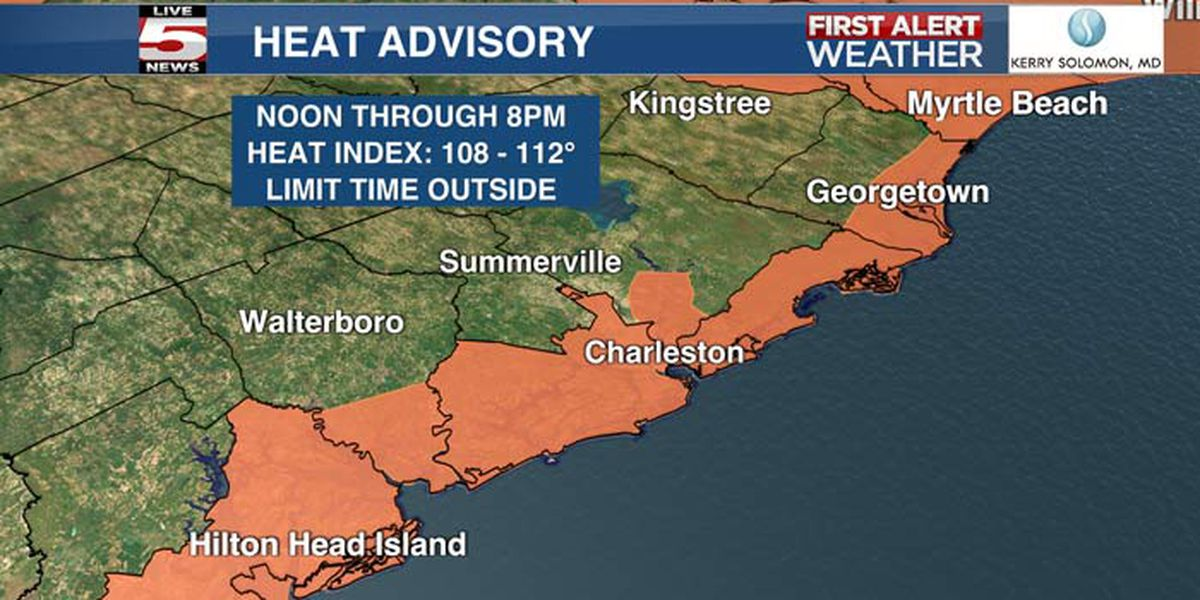 FIRST ALERT: Heat advisory issued for several Lowcountry counties