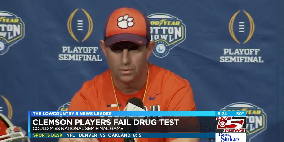 VIDEO: 3 Clemson football players may miss Cotton Bowl after failing drug test