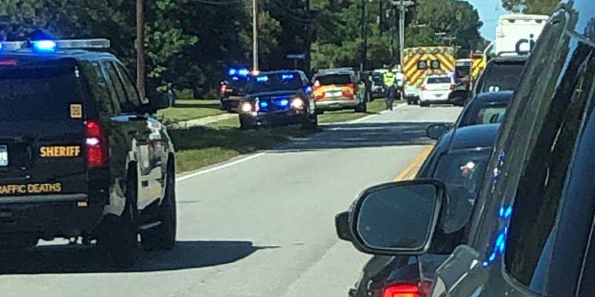 FIRST ALERT: Crash involving vehicle, motorcycle shuts down Hwy. 41