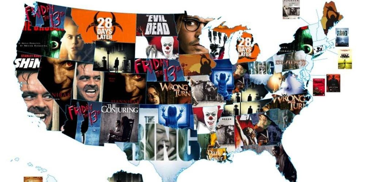 Which movie is South Carolinascared of most?