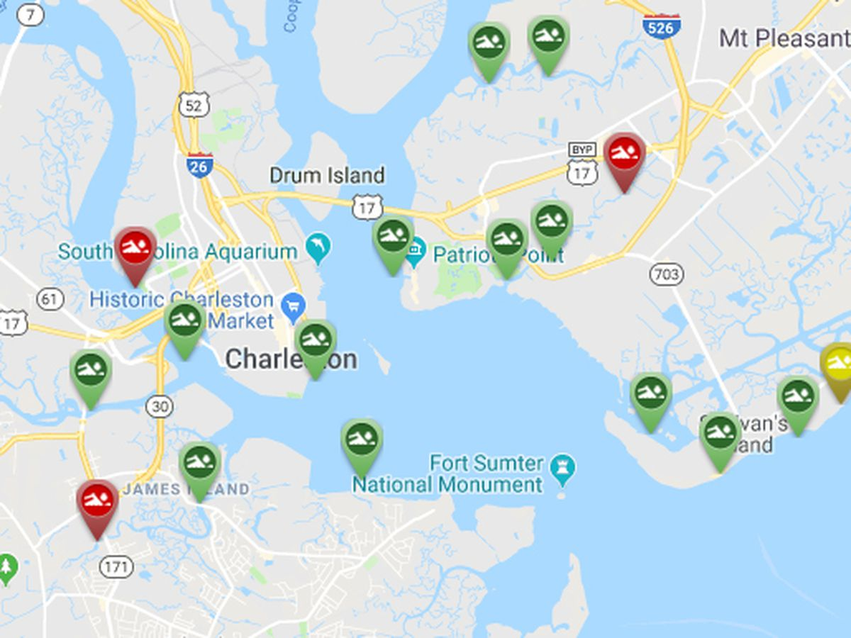 High bacteria levels detected at Charleston area waterways on