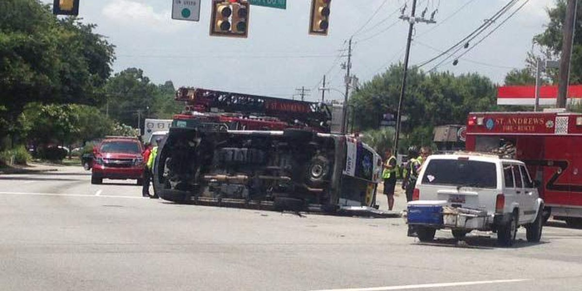 Battalion Chief: No injuries in West Ashley crash involving ambulance