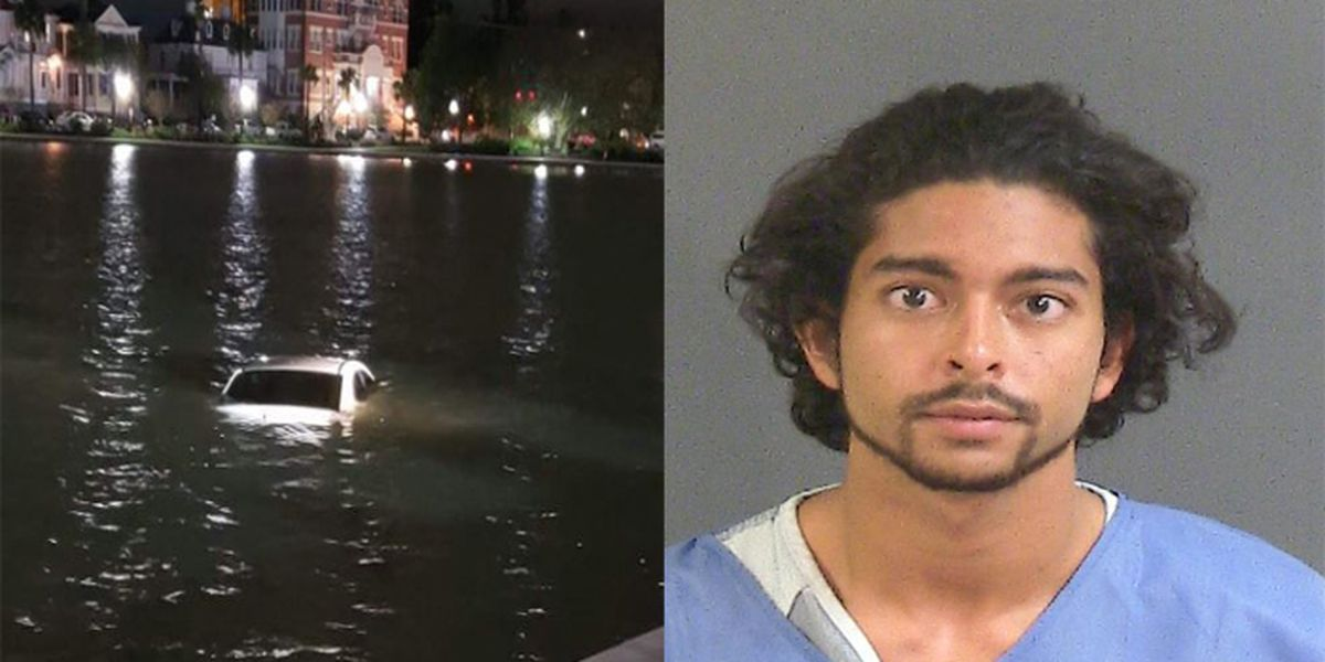 Man suspected of DUI drives into Colonial Lake, police say
