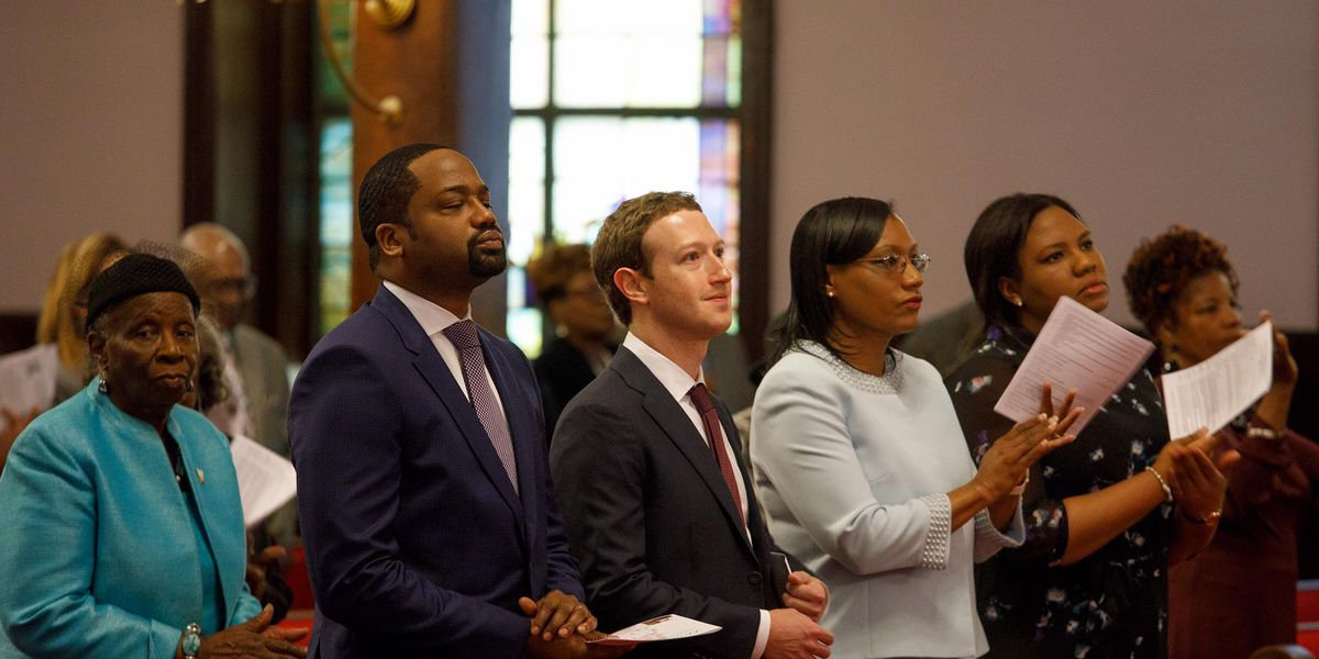 Mark Zuckerberg visits Mother Emanuel AME Church