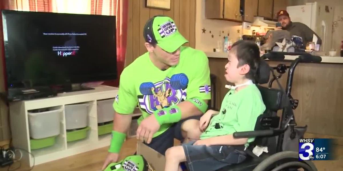 Terminally ill Diego meets WWE superstar John Cena