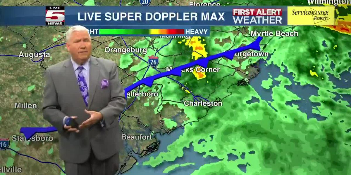 VIDEO: Expect heavy rain throughout the evening