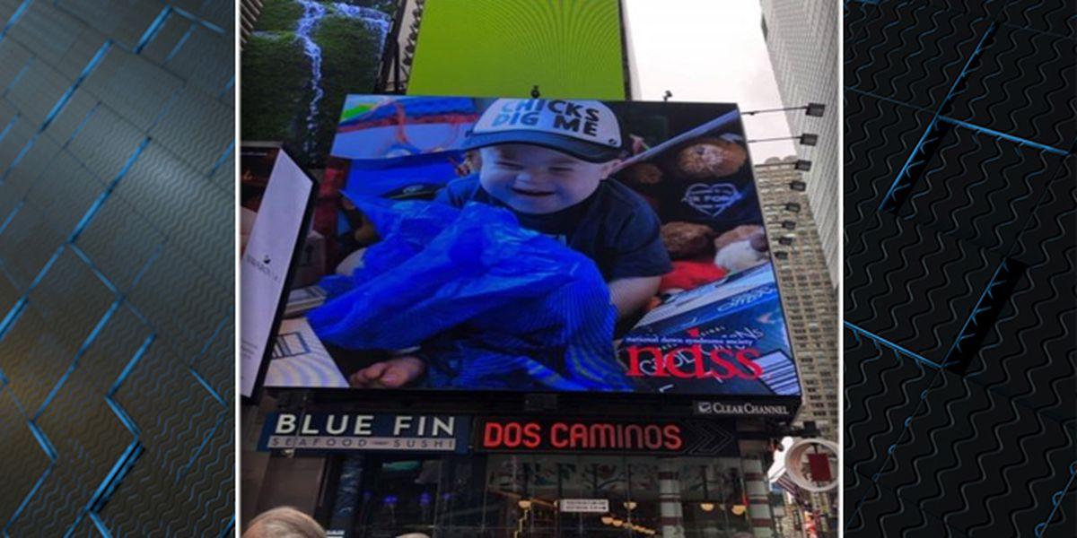 James Island boy with Down Syndrome, Leukemia makes big screen in Times Square