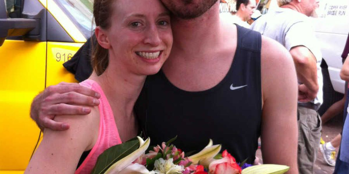 She said yes! Man proposes after Cooper River Bridge Run