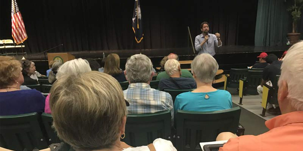 Cunningham takes on questions from both sides of the aisle at town hall meeting