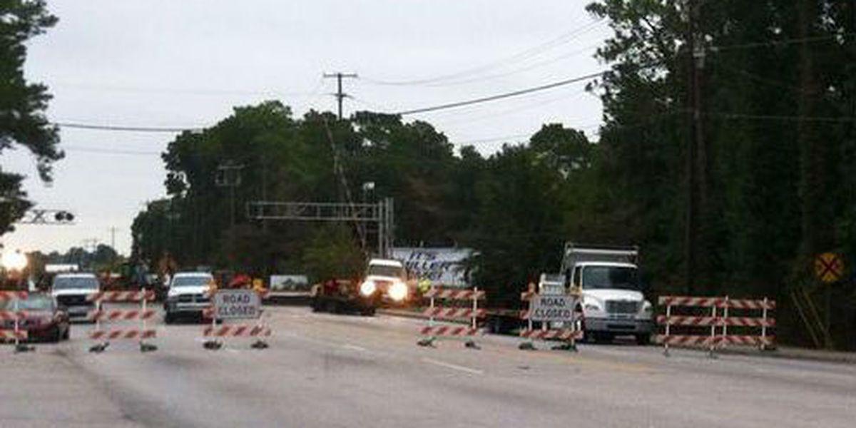 North Rhett Avenue open following rail repair