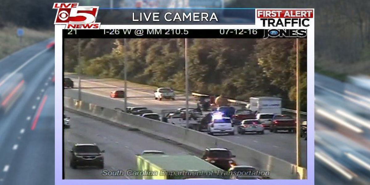 Crews clear accident involving ten cars on I-26