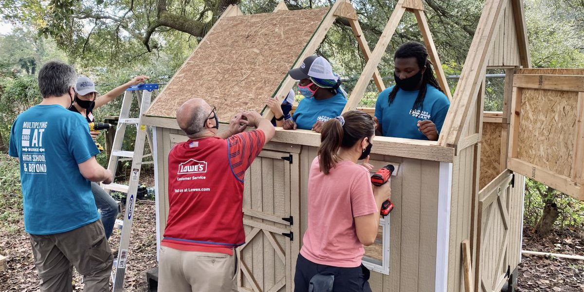 Nonprofit in Charleston builds children's playhouse at The Pink House