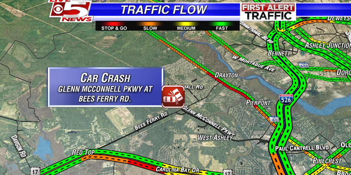 TRAFFIC ALERT: Accidents slow traffic near Bees Ferry Road