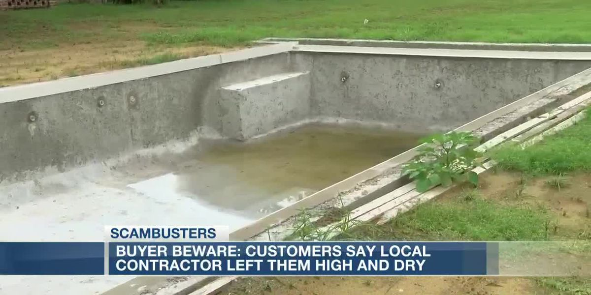 VIDEO: Customers claim contractor took payments, never completed swimming pools