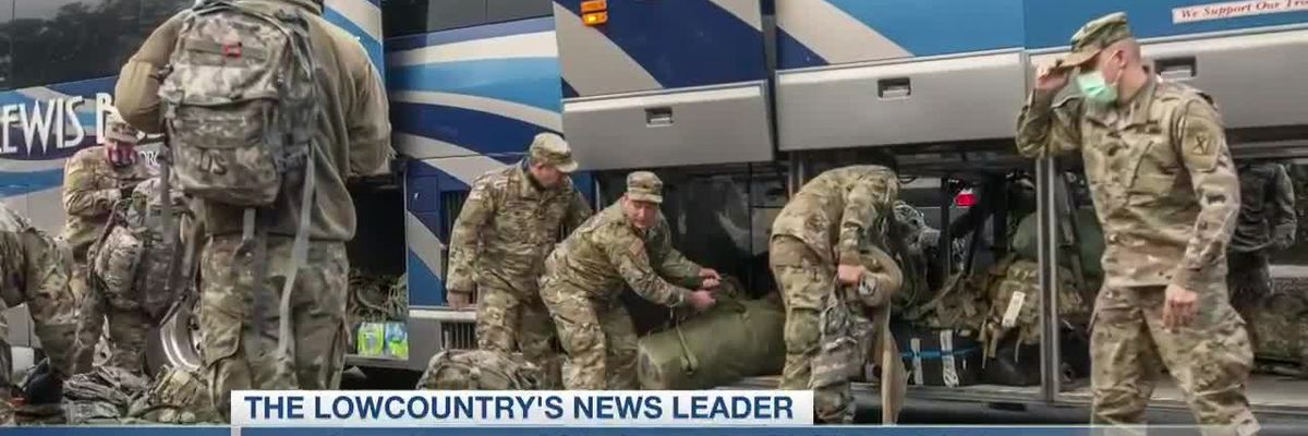 VIDEO: South Carolina National Guard returns to Mount Pleasant following DC deployment