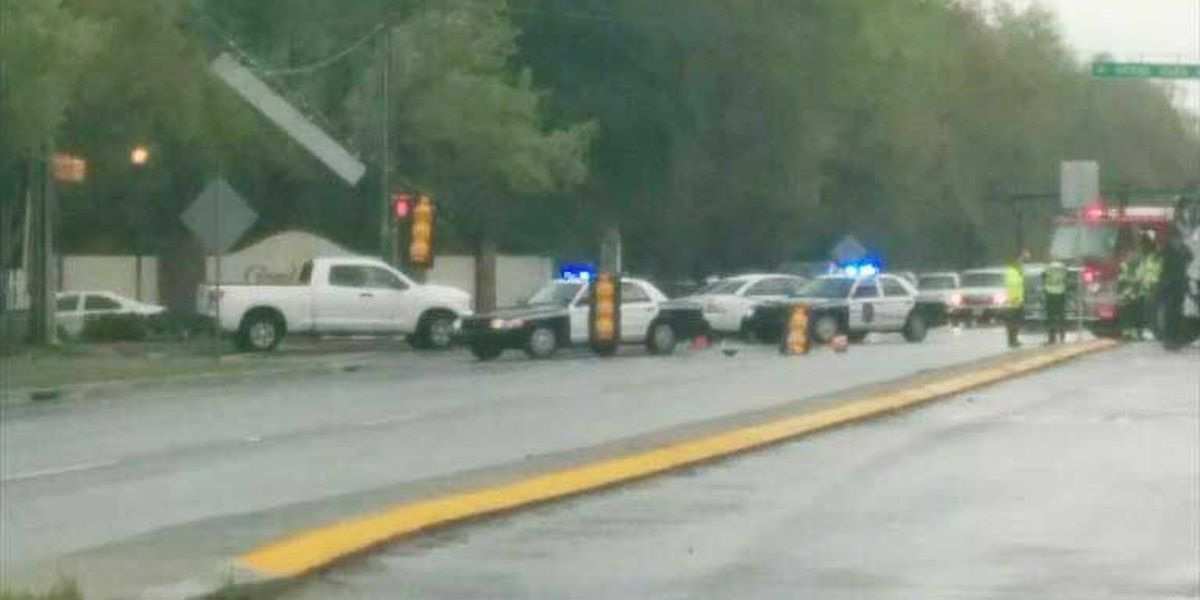 Crews making repairs to utility pole after crash on Bees Ferry Road